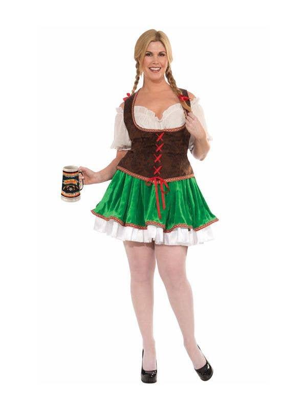 Women's Plus Size Beer Garden Girl German Oktoberfest Costume Main Image