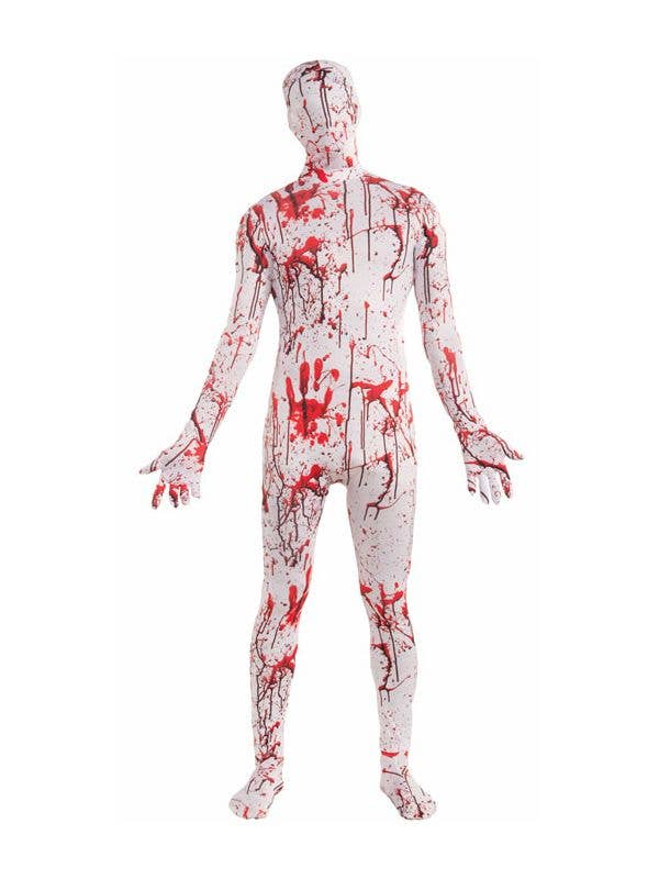 5ce3e2ade64859 Blood Splattered Skin Suit Costume | Bloody 3D Halloween Costume