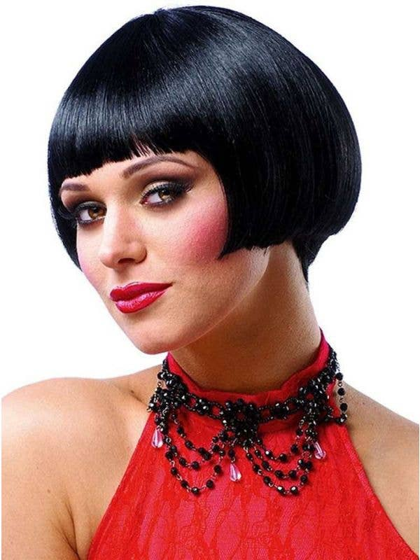 Women's Shirt Black Flapper Costume Wig