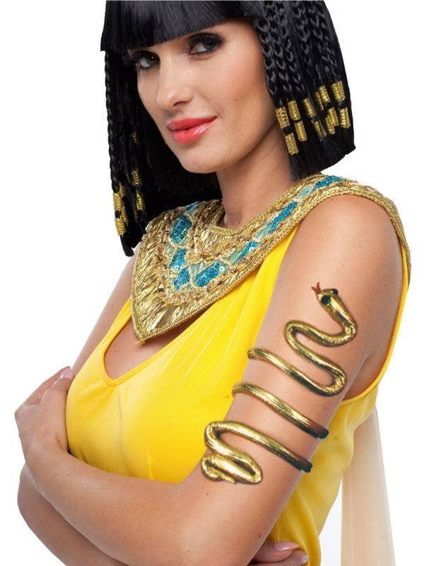Cleopatra Gold Snake Wrap Around Arm Band Costume Accessory Main Image