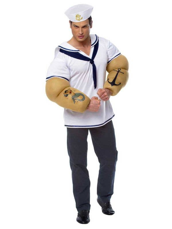 Pop Eye Men's Sailor Costume Front View
