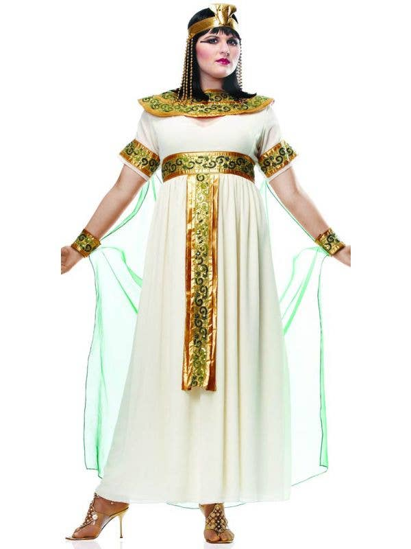 Cleopatra Plus Size White Costume Womens White Cleopatra Costume