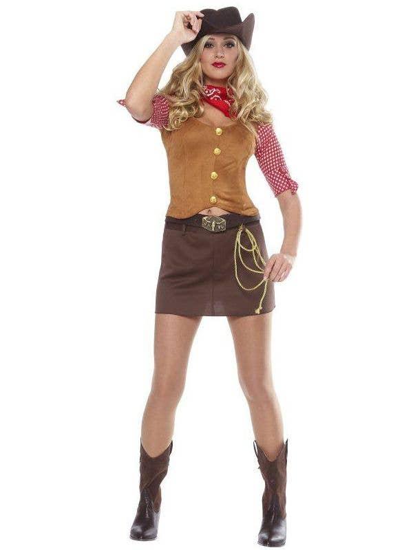 Women's Sexy Western Gunslinger Fancy Dress Costume