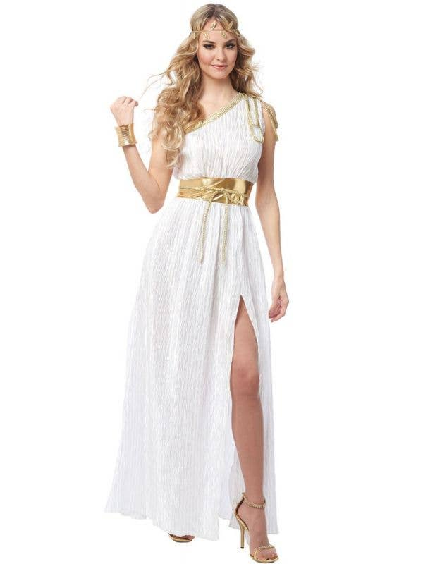 Women's Sexy White Grecian Beauty Goddess Fancy Dress Costume Main Image