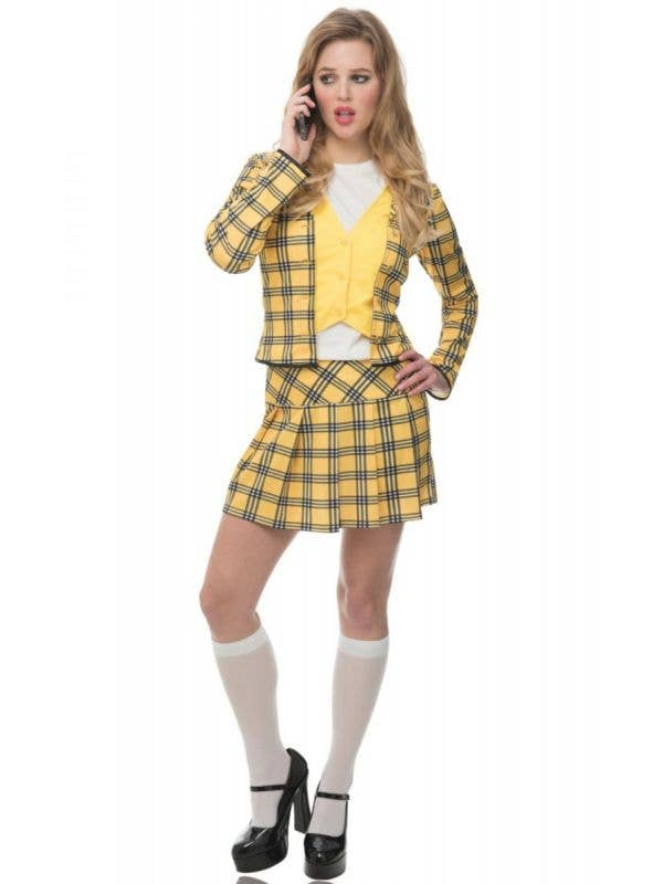 Women's Sexy Yellow Plaid Cher From Clueless Costume Main Image