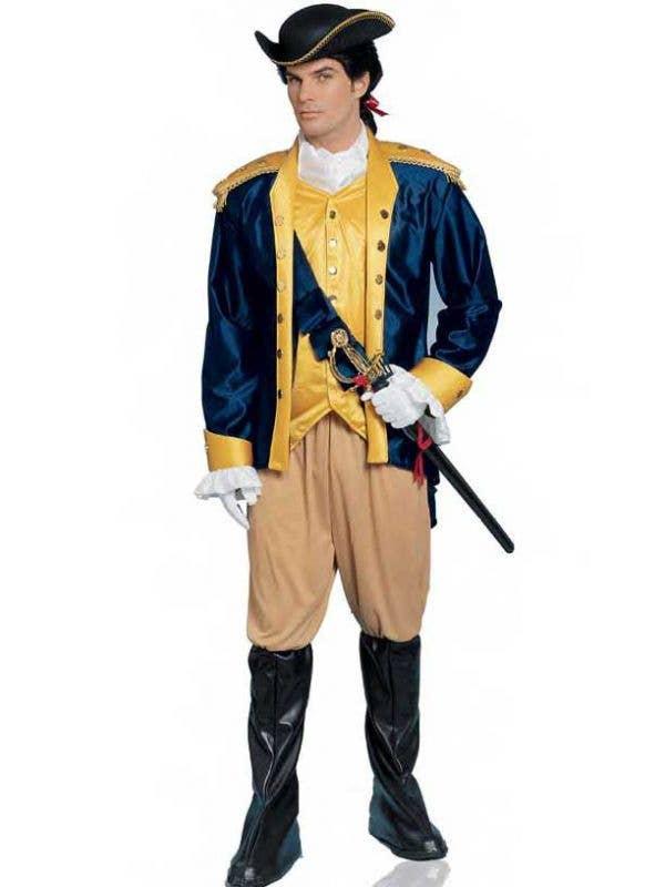 Colonial General Men's Fancy Dress Costume Front View