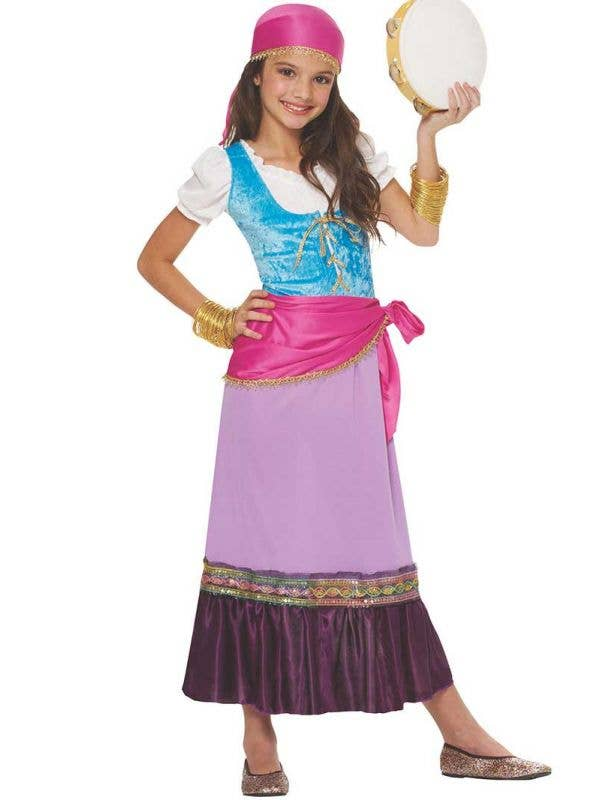 Fortune Teller Girl's Gypsy Costume Front View