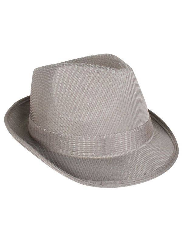 f2359cb774c439 1920's Gangster Trilby Hat | Grey Gangster Fedora Costume Hat