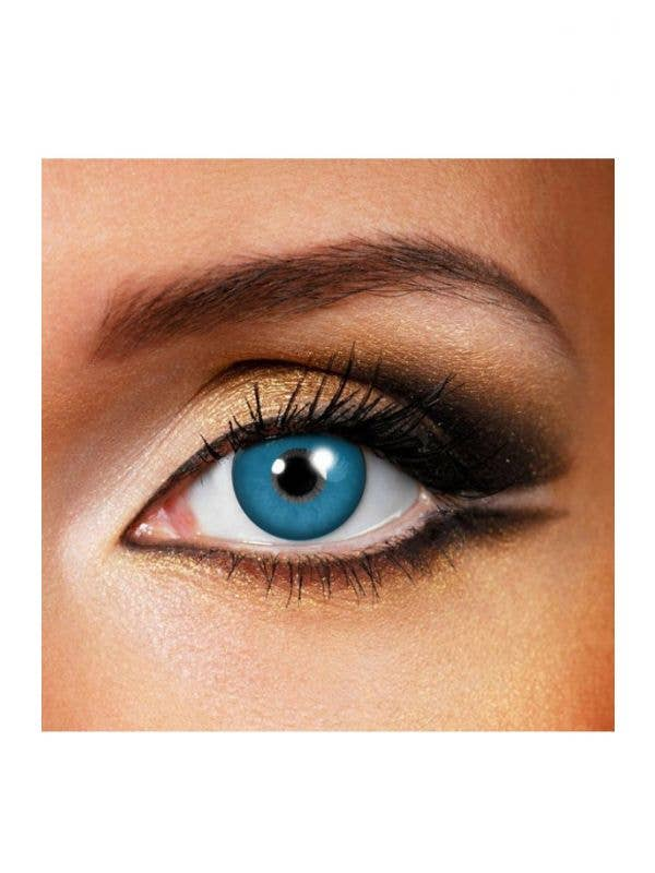 d9cfcfab16b Bright Blue Coloured Chucky Contact Lenses by Funky Vision View 1