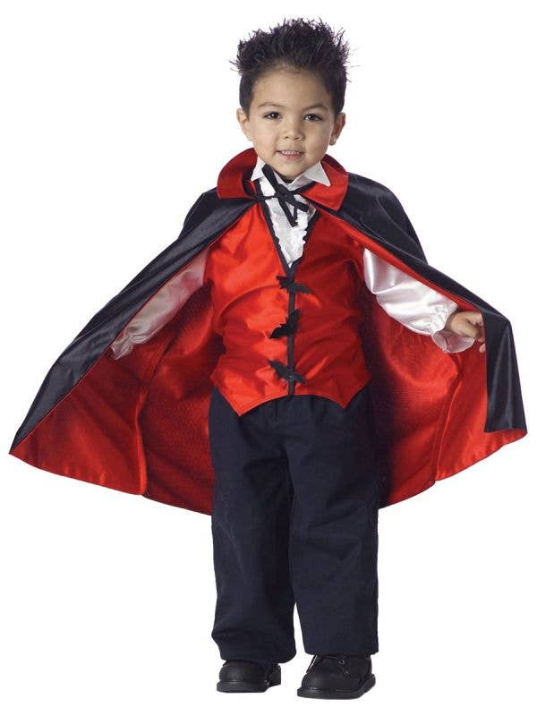 Boys Little Red and Black Toddler Vampire Costume