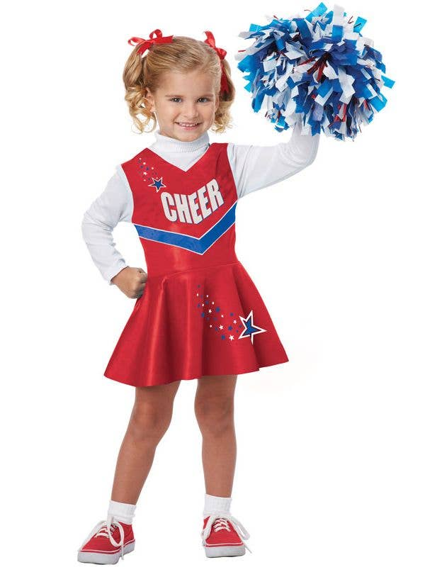 Toddler Girl's Cheerleader Uniform Costume Front View