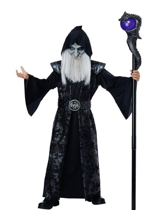 Boys Dark Wizard Halloween Fancy Dress Costume Main Image