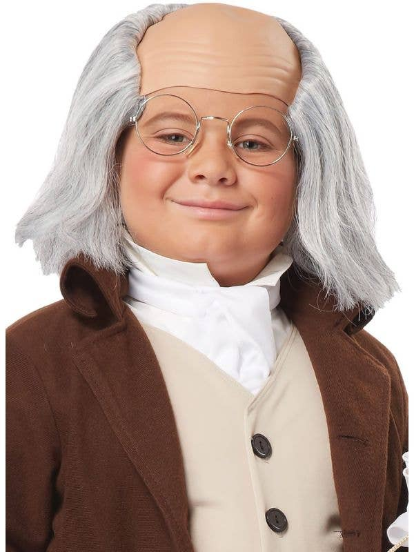Benjamin Franklin Children's Historical Colonial Wig Costume Accessory Main Image