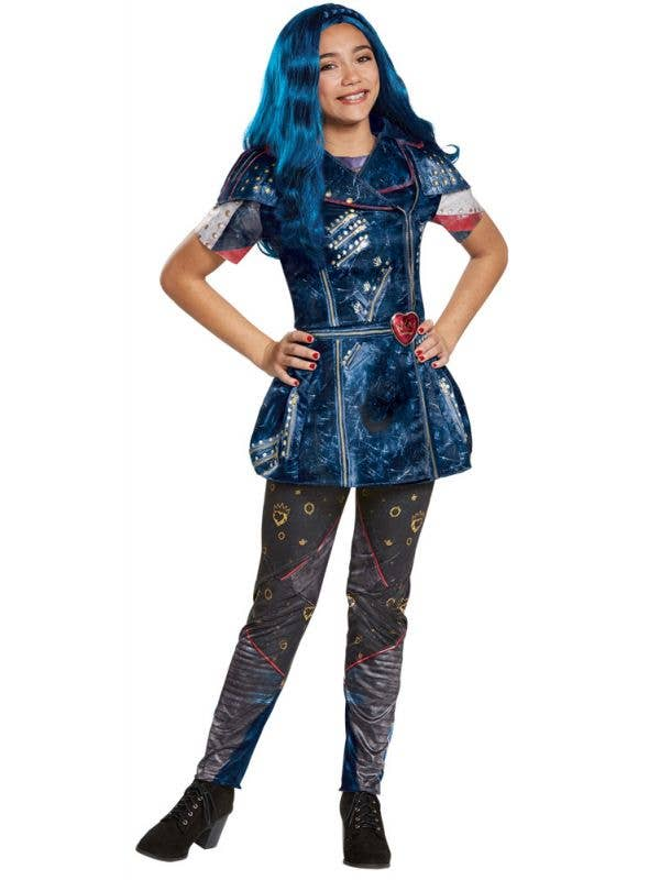 Evie Descendants 2 Disney Girl's Blue Costume Main Image