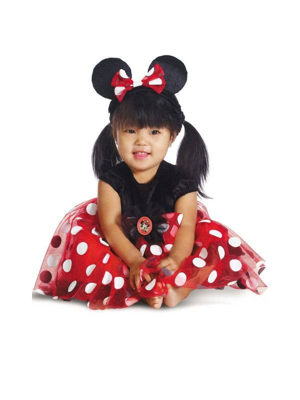 Girl's Infant Disney Baby Minnie Mouse Red And Black Fancy Dress Costume Main Image