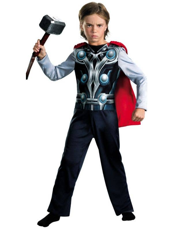 Boys Avengers Superhero Thor Fancy Dress Costume Main Image
