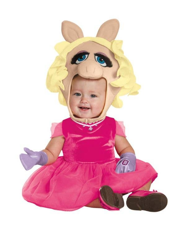 Miss Piggy Girl's Infant And Toddler Disney Muppets Fancy Dress Costume Main Image