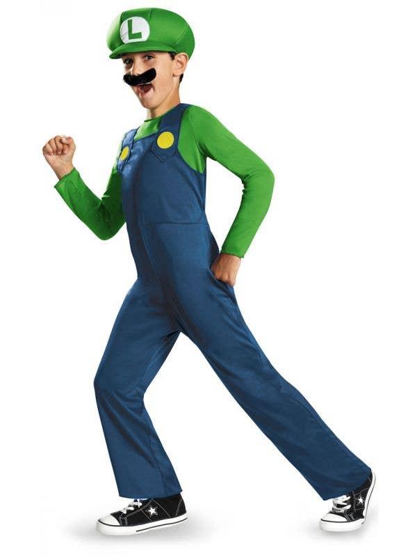 Luigi Super Mario Kids Video Game Costume Main Image