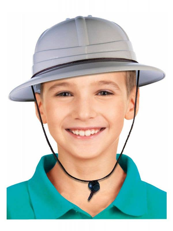 Kids khaki beige Plastic Safari Costume Hat Main Image