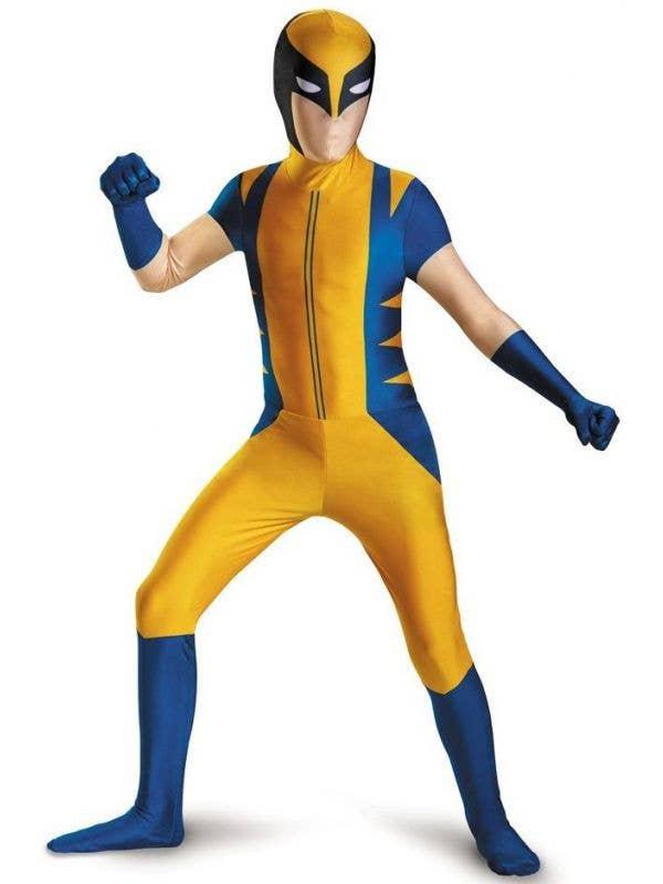 Boys Classic Wolverine Second Skin X-Men Fancy Dress Costume