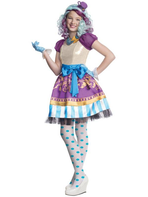 Ever After High Madeline Hatter Girls Deluxe Fancy Dress Costume-Main Image