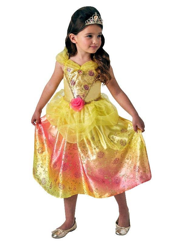 Rubies Belle Girls The Beauty and the beast Disney Princess Book Week Kids Fancy Dress Costume Main Image