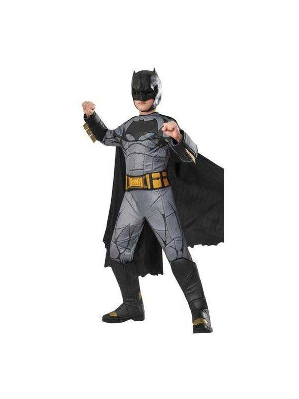 Premium Deluxe Boys Batman Fancy Dress Costume  sc 1 st  Heaven Costumes & Batman Deluxe Boys Costume | Premium Deluxe Batman Superhero Costume