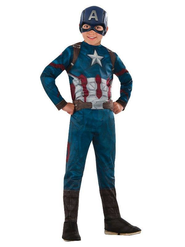 Boys Avengers Infinity War Captain America Fancy Dress Costume Image