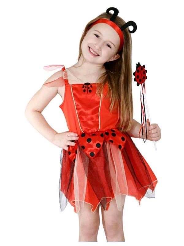 Red and Black Girls Cute Lady Beetle Book Week Costume