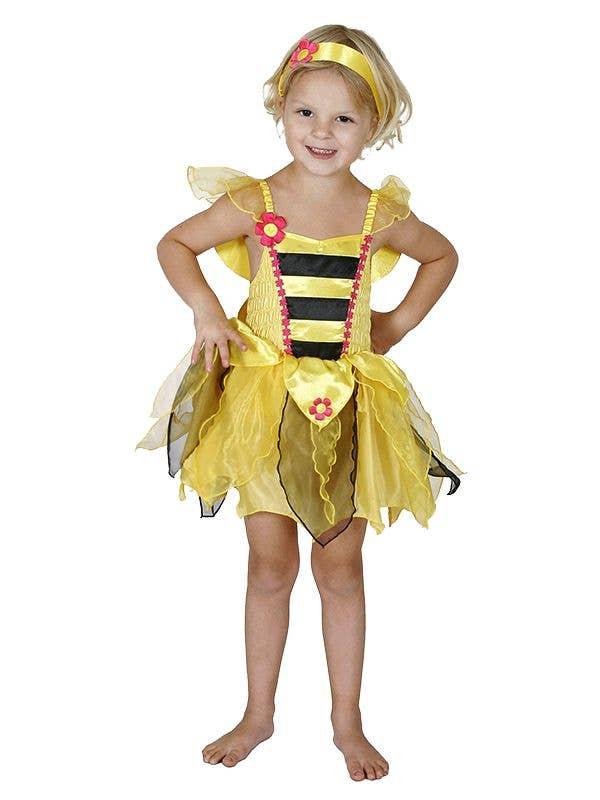 Yellow Bumble Bee Girls Fairy Book Week Costume