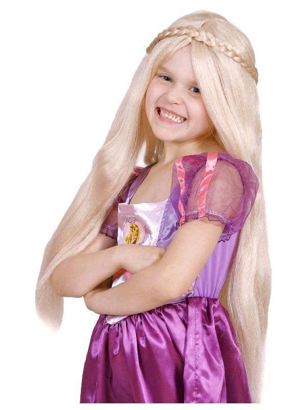 2062d5a3b300b2 Disney Princess Girl's Rapunzel Fairytale Blonde Costume Wig Accessory Main  Image