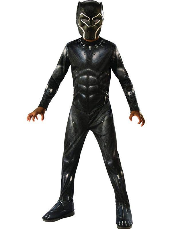 Classic Boys Black Panther Book Week Fancy Dress Costume Main Image