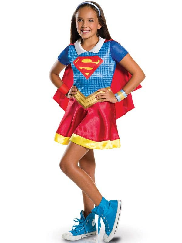 Girls Supergirl DC Comics Super Hero Fancy Dress Costume Main Image