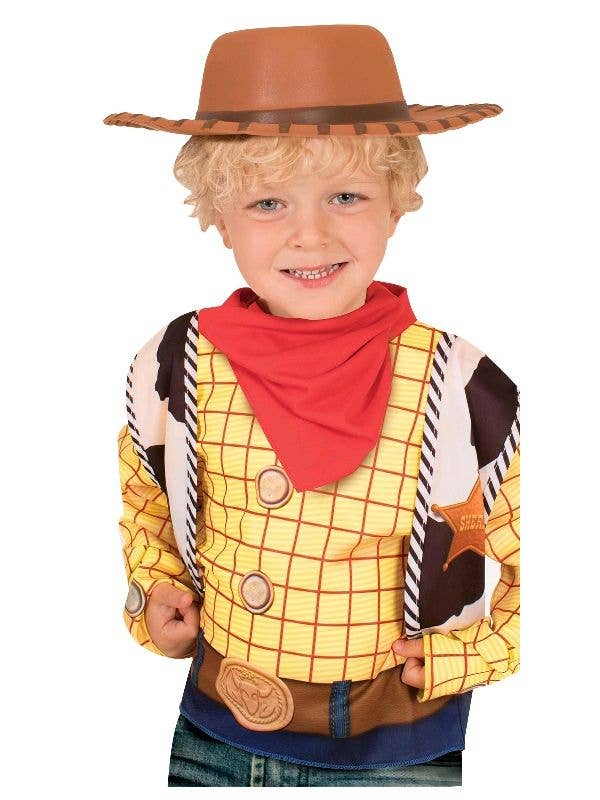 Officially Licensed Toy Story Woody Brown Cowboy Hat Costume Accessory - Main Image