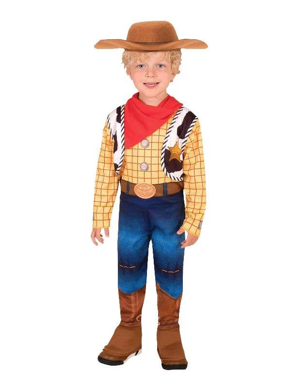 Boy's Deluxe Toy Story 4 Woody Fancy Dress Costume - Main Image