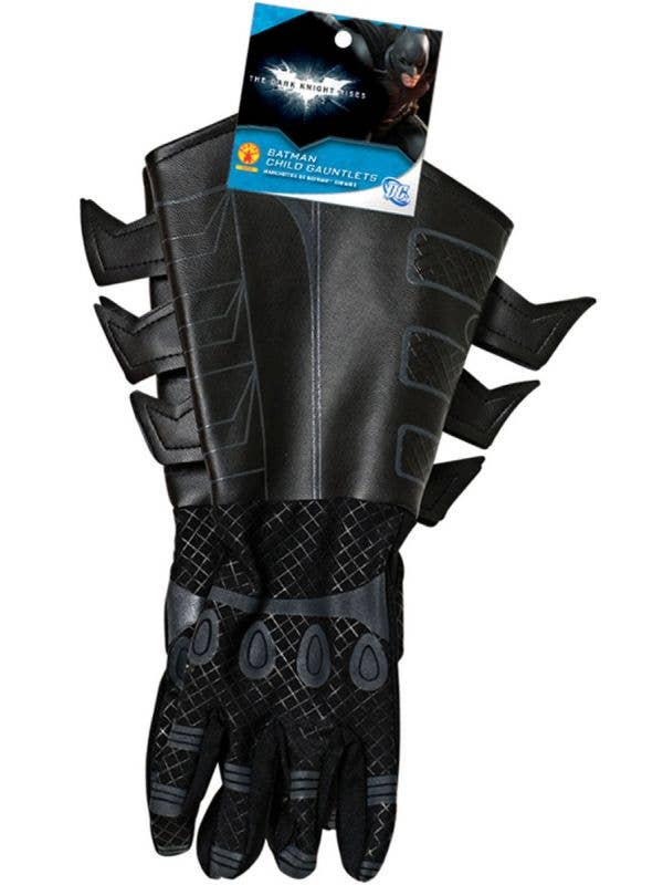Kids Batman Dark Knight Gloves Gauntlets Costume Accessories Main Image