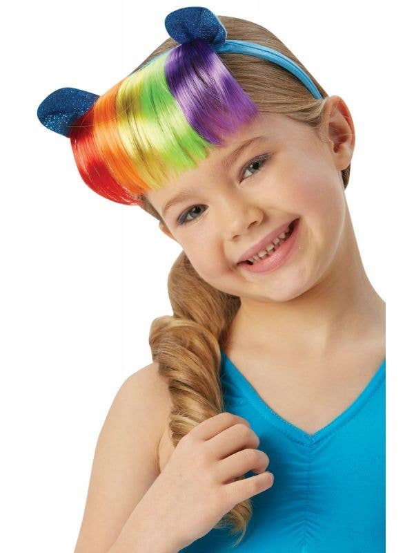 Rainbow Dash Girls My Little Pony Headband with Rainbow Fringe