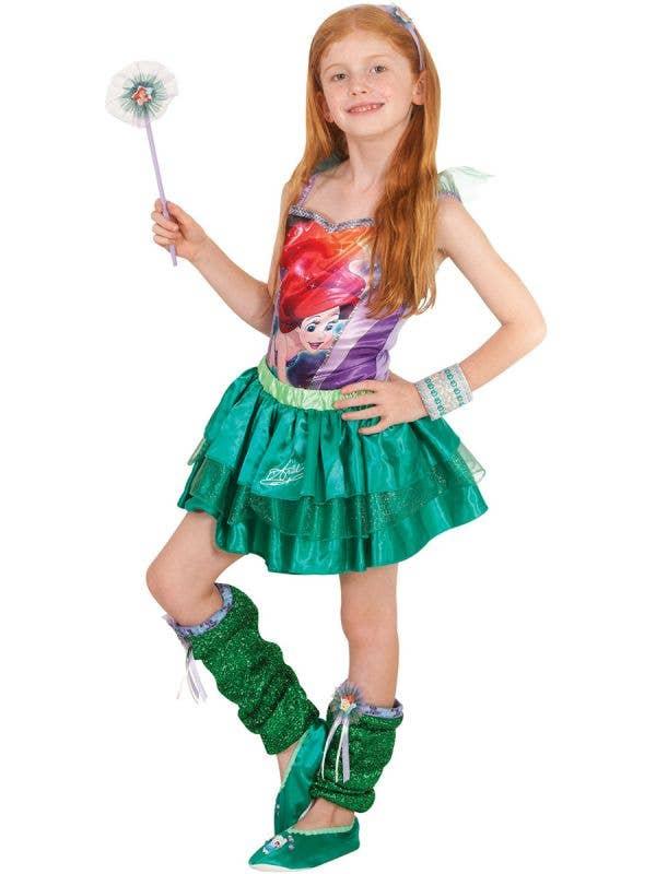 The Little Mermaid Girls Disney Ariel Character Costume Top Main Image