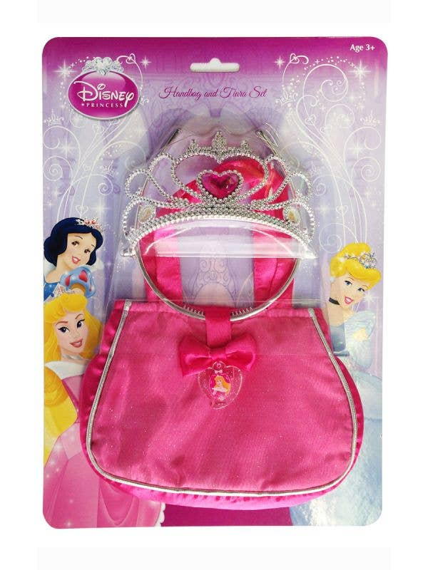 Sleeping beauty girls Disney Princess bag and tiara fancy dress costume accessory kit