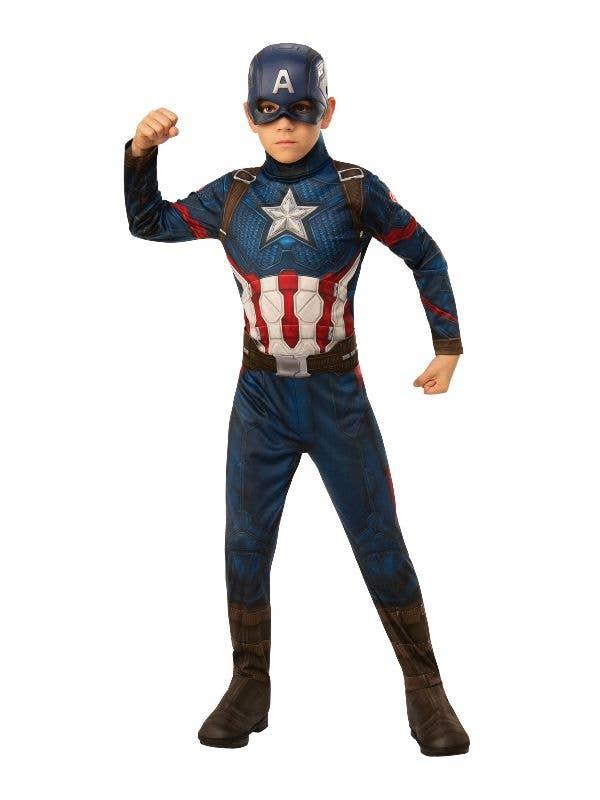 Boys Avengers Endgame Captain America Fancy Dress Costume Main Image