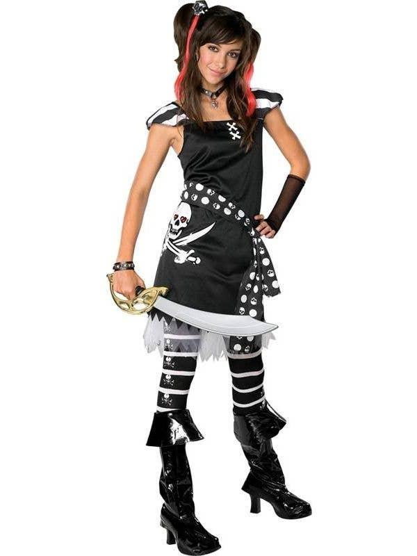 Girls Rubies Tween Pirate Drama Queen Scar-Let Book Week Costume