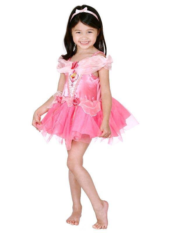 Girl's Toddler Sleeping Beauty Ballerina Tutu Disney Princess Aurora Fancy Dress Costume Main Image