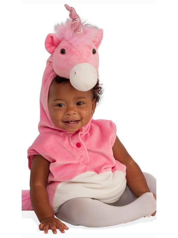 Girl's Baby Unicorn Girl's Fancy Dress Animal Costume Main Image
