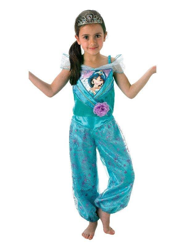 Rubies Girl's Officially Licensed Princess Jasmine from Aladdin Disney Princess Book Week Costume - Main Image