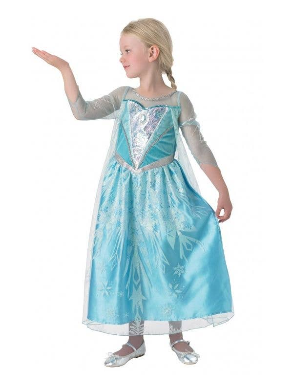 High Quality Licensed Snow Queen Elsa Girls Deluxe Fancy Dress Costume