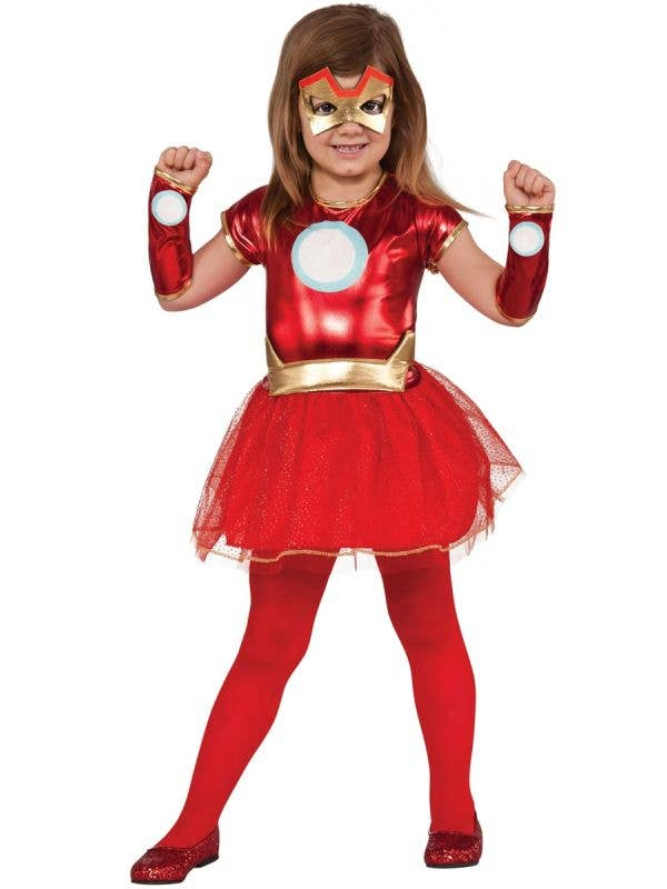 Girls Iron Man Marvel Comics Superhero Book Week Costume Main Image