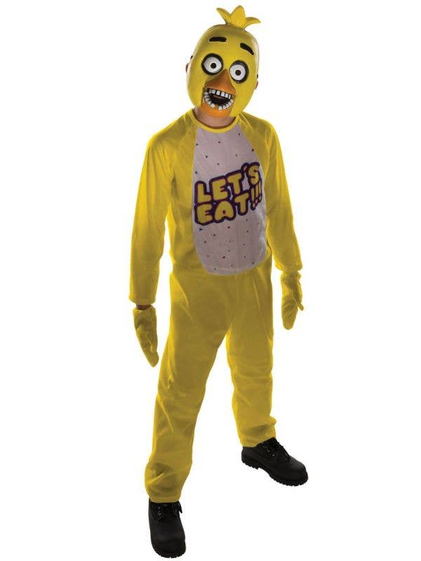 Kid's Boys Girl's Yellow Chica Chicken Gaming Character Five Nights At Freddy's Halloween Costume Main Image