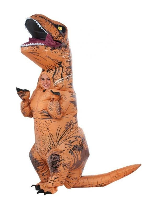 Kids Inflatable T-Rex Dinosaur Costume with Sound Effects Main Image