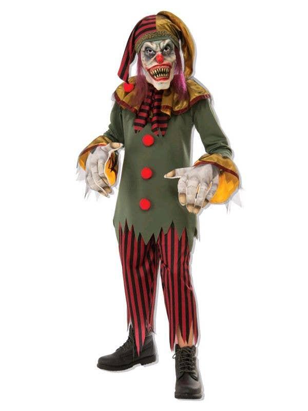 Boys Crazy Evil Clown Halloween Fancy Dress Costume