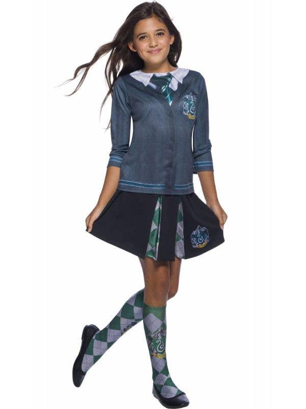 Girls Slytherin Printed Harry Potter Costume Shirt Main Image